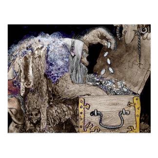 Treasure Chest Troll Postcard
