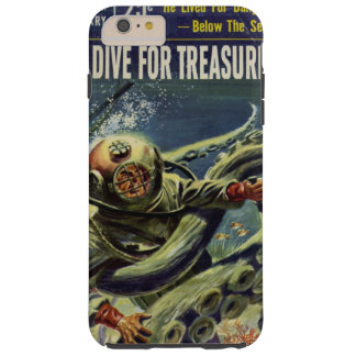 Treasure diver fights octopus tough iPhone 6 plus case