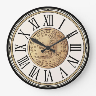 Treasure-Hunter's Dollar Coin Roman Numerals Clock