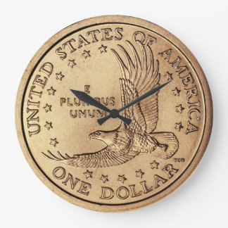 Treasure-Hunter's Golden Dollar Coin Wall Clock