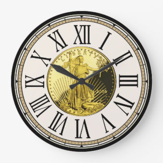 Treasure-Hunter's Liberty Coin Roman Numbers Clock