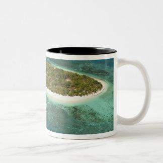 Treasure Island Resort and boat, Fiji Coffee Mugs