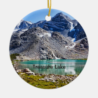 Treasure Lake Round Ceramic Decoration