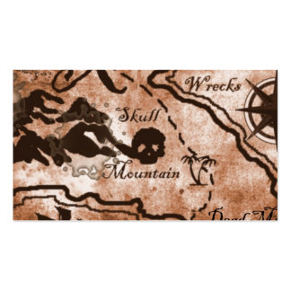 Treasure map Double-Sided standard business cards (Pack of 100)