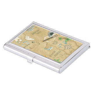 Treasure Map Business Card Holder