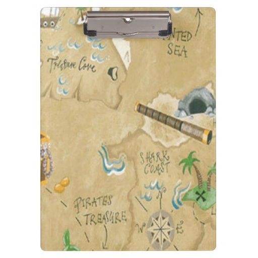 Treasure Map Clipboard