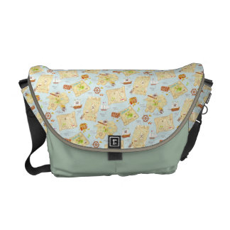 Treasure Map Courier Bags