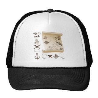 Treasure map kit hats