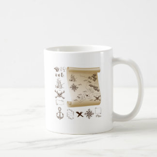 Treasure map kit coffee mugs