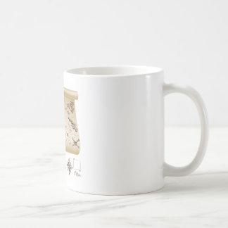 Treasure map kit coffee mug