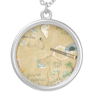 Treasure Map Necklace