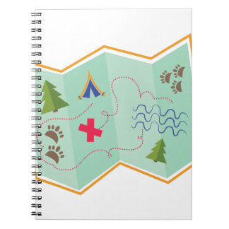 Treasure Map Spiral Notebook