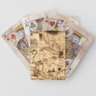 Treasure Map of The Caribbean Poker Deck