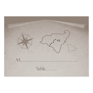 Treasure Map Place Card, Beige Business Cards