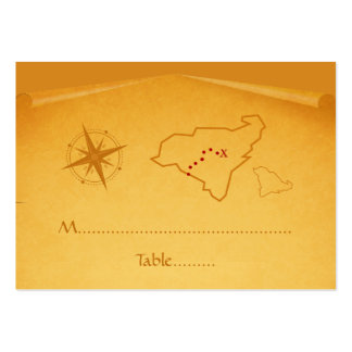 Treasure Map Place Card Business Card Templates