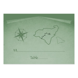 Treasure Map Place Card, Green Business Cards