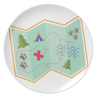 Treasure Map Party Plate