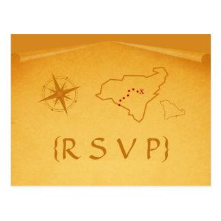 Treasure Map RSVP Postcard