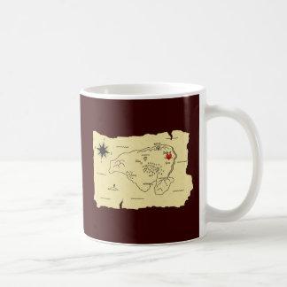 Treasure map treasure map coffee mugs
