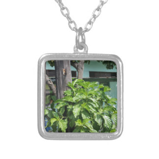 Treasure nostalgia today in Cuba telephone booth Silver Plated Necklace