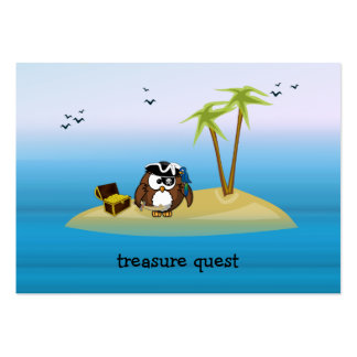 treasure quest owl pack of chubby business cards
