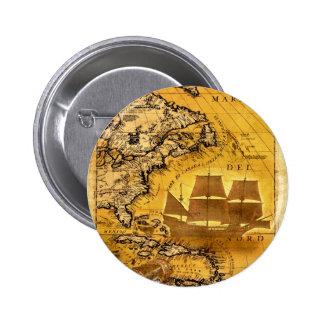 Treasure Ship Pinback Buttons