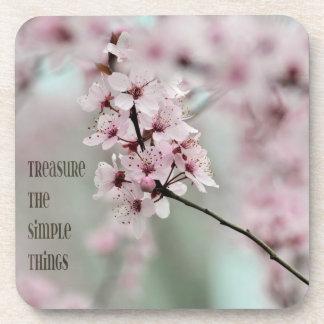 Treasure the Simple Things Floral Beverage Coasters