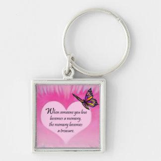 Treasured Memories Butterfly Poem Keychains