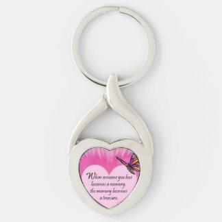 Treasured Memories Butterfly Poem Key Chain