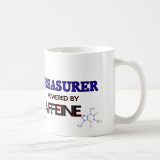 Treasurer Powered by caffeine Basic White Mug