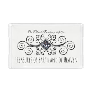 Treasures of Earth and Heaven Your Name Acrylic Tray