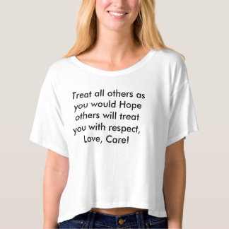 Treat all others tee shirt