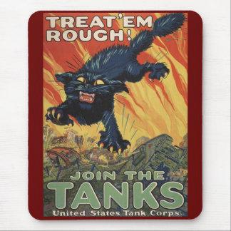 Treat Em Rough-1918 Mousepads