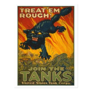 Treat 'em Rough - Join the Tanks Postcard