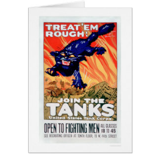 Treat 'Em Rough!  Join the Tanks (US02077A) Card