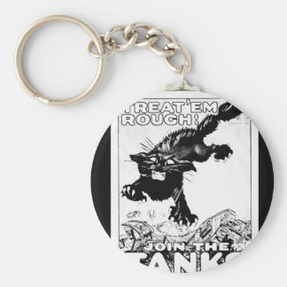 "Treat ""Em Rough!  Join the Tanks_War Image Basic Round Button Key Ring"