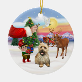 Treat for a Cairn Terrier (black mask) Ceramic Ornament