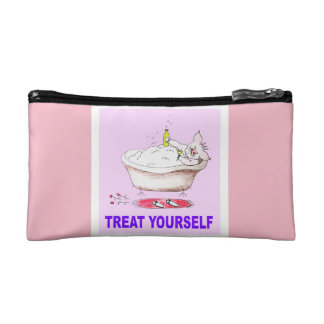 Treat Yourself Small Cosmetic Bag