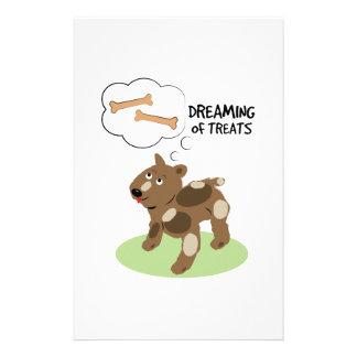 Treats Dreaming Personalized Stationery
