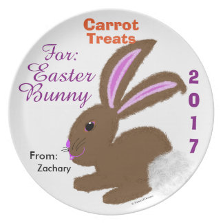 Treats For Easter Bunny Personalised Keepsake Plate