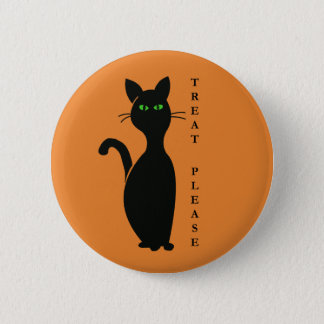 Treats Please Cat 6 Cm Round Badge