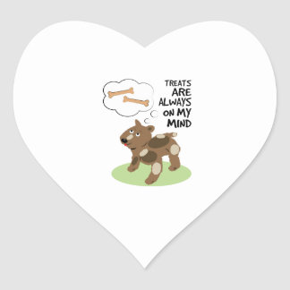 Treats Thoughts Heart Stickers