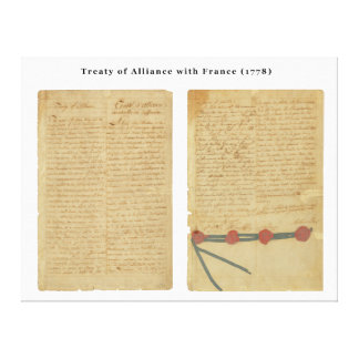 Treaty of Alliance with France Stretched Canvas Print