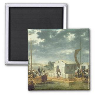 Treaty of Tilsitz, 1807 Square Magnet