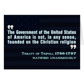Treaty of Tripoli, 1796-97 Greeting Card