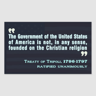 Treaty of Tripoli, 1796-97 Sticker