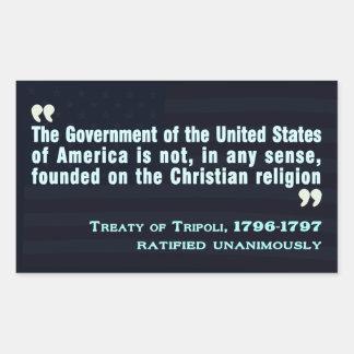 Treaty of Tripoli, 1796-97 Sticker