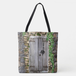 Treble Alto Bass Clefs as Keys to Weathered Door Tote Bag