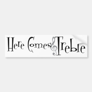 Treble Bumper Sticker