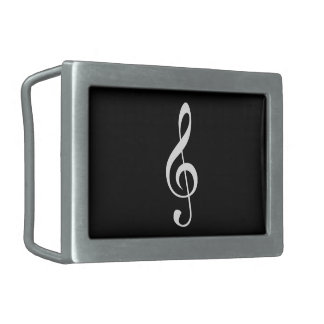 TREBLE CLEF-BELT BUCKLE RECTANGULAR BELT BUCKLE